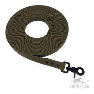 BIOTHANE® Hundeleinen - 19mm - flach - Black Edition