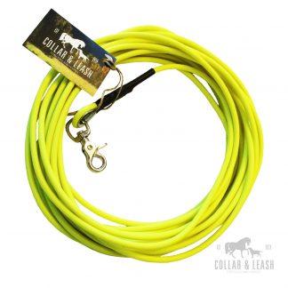 Biothane Führleine 6mm neon gelb